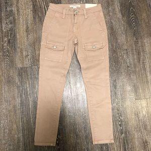 NWOT Joie Blush Pink Pocket Front Skinny Jeans 24